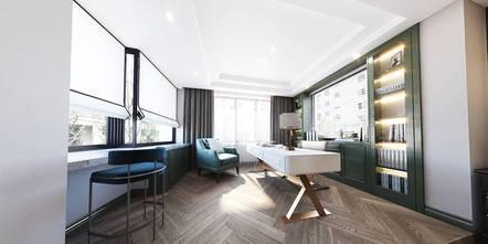 豪华型140平米别墅美式风格书房效果图
