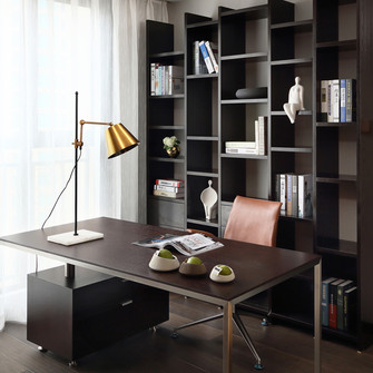 富裕型100平米三中式风格书房图片大全