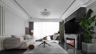 富裕型130平米三室三厅法式风格客厅图片