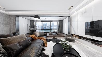 豪华型110平米三室两厅现代简约风格客厅图片