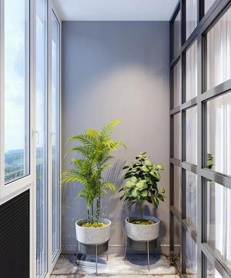 经济型80平米三室两厅北欧风格阳台装修图片大全