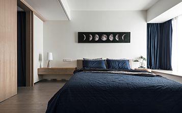 富裕型110平米三室两厅现代简约风格卧室装修图片大全