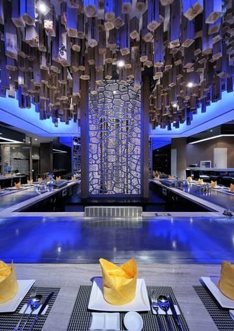 20万以上140平米公装风格餐厅设计图