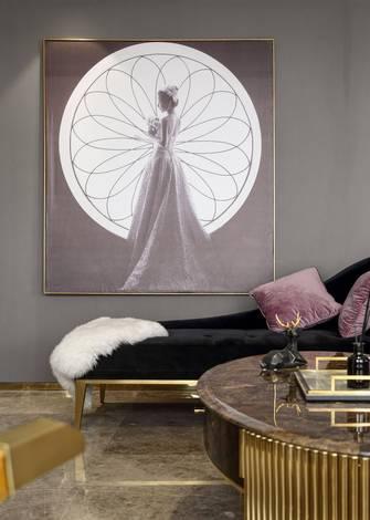 110平米三混搭风格客厅欣赏图