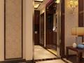 富裕型100平米三室两厅中式风格走廊装修效果图