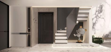 140平米四室三厅现代简约风格玄关图