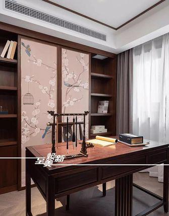 富裕型130平米三室两厅中式风格书房图片