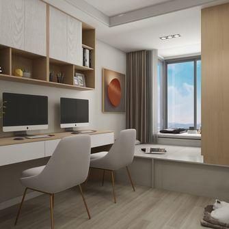 90平米三室两厅现代简约风格书房图