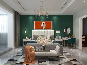 富裕型140平米三室两厅混搭风格卧室效果图