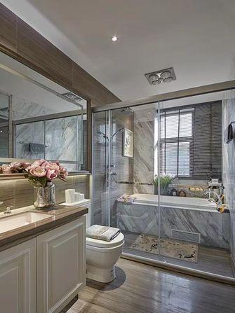 130平米三室一厅美式风格卫生间图片大全