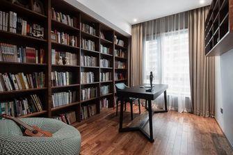 富裕型110平米三中式风格书房图片