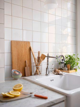 5-10万50平米公寓田园风格厨房图片