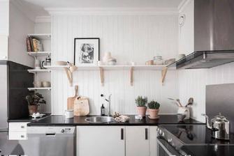 富裕型40平米小户型北欧风格厨房装修图片大全