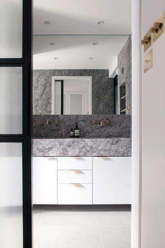 富裕型110平米三室两厅田园风格卫生间图片