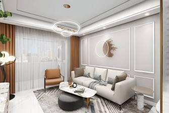 5-10万90平米三室一厅现代简约风格客厅图