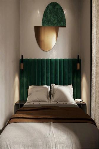 富裕型70平米一居室轻奢风格卧室欣赏图