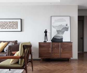 10-15万120平米三室一厅北欧风格客厅图片