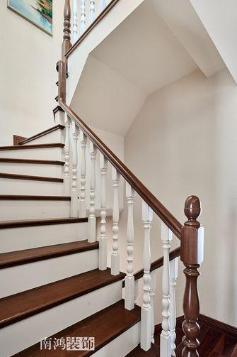 20万以上140平米复式混搭风格楼梯间图