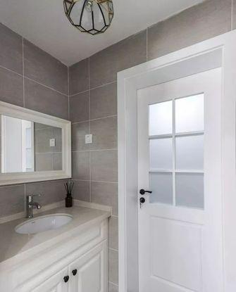 5-10万90平米三室一厅美式风格卫生间效果图