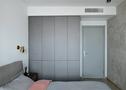 豪华型100平米三室两厅工业风风格卧室图