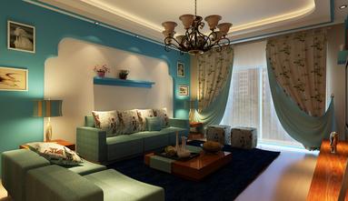 富裕型120平米三室一厅地中海风格卧室图片