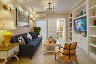 富裕型70平米三室一厅法式风格客厅装修图片大全