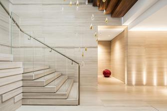 140平米轻奢风格楼梯间图片大全