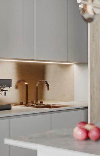 5-10万60平米公寓现代简约风格厨房欣赏图