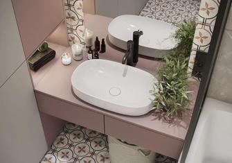 70平米轻奢风格卫生间设计图