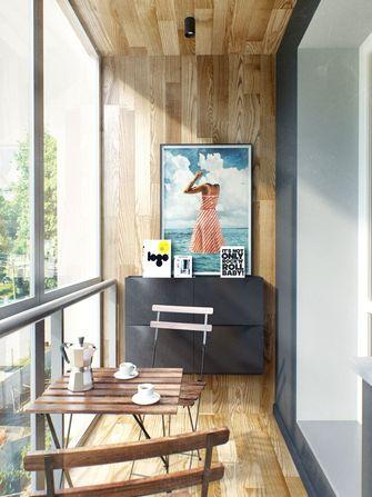60平米一室两厅北欧风格阳台图