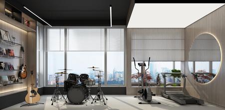 140平米现代简约风格健身房装修图片大全