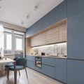 20万以上140平米三室一厅现代简约风格厨房欣赏图