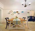 经济型80平米地中海风格餐厅装修案例