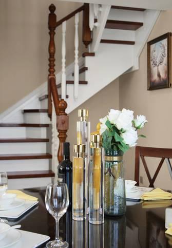 豪华型110平米复式轻奢风格楼梯间装修图片大全