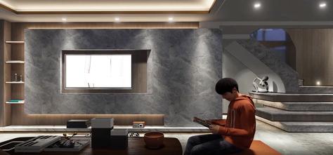 15-20万140平米复式混搭风格客厅装修效果图