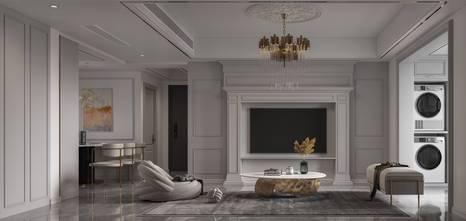 100平米四室一厅法式风格客厅欣赏图