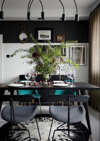 富裕型120平米四北欧风格餐厅装修图片大全