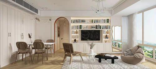10-15万80平米三室一厅法式风格客厅图