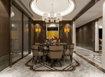 富裕型130平米三室两厅英伦风格餐厅图片