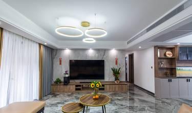 富裕型140平米一室两厅轻奢风格客厅装修案例