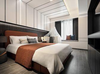 80平米英伦风格卧室效果图