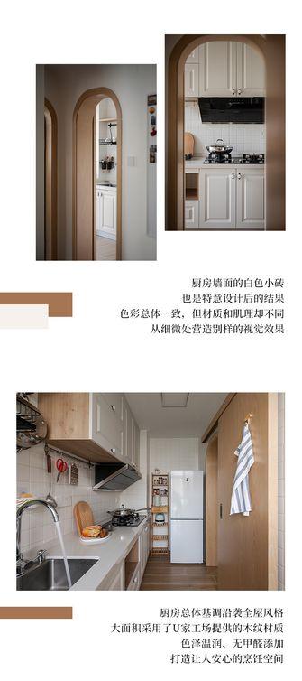 富裕型50平米一室一厅北欧风格厨房图片大全