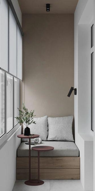 富裕型40平米小户型现代简约风格阳台图