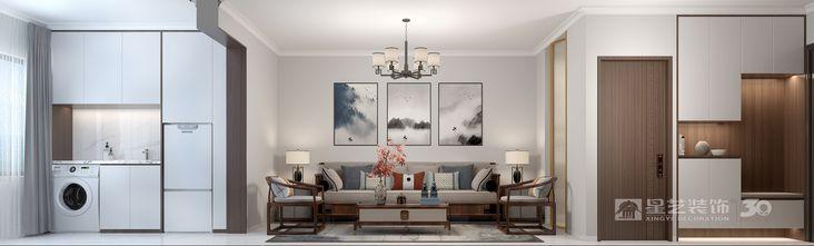 5-10万70平米公寓中式风格客厅效果图