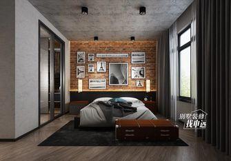 20万以上140平米三工业风风格卧室设计图
