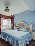 80平米三室两厅田园风格卧室图