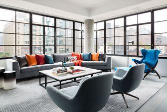 富裕型140平米四室一厅混搭风格客厅装修图片大全