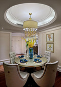140平米四室三厅新古典风格餐厅图