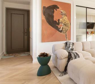 豪华型140平米三室一厅法式风格客厅效果图