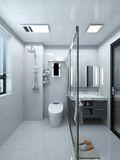 80平米公寓轻奢风格卫生间设计图